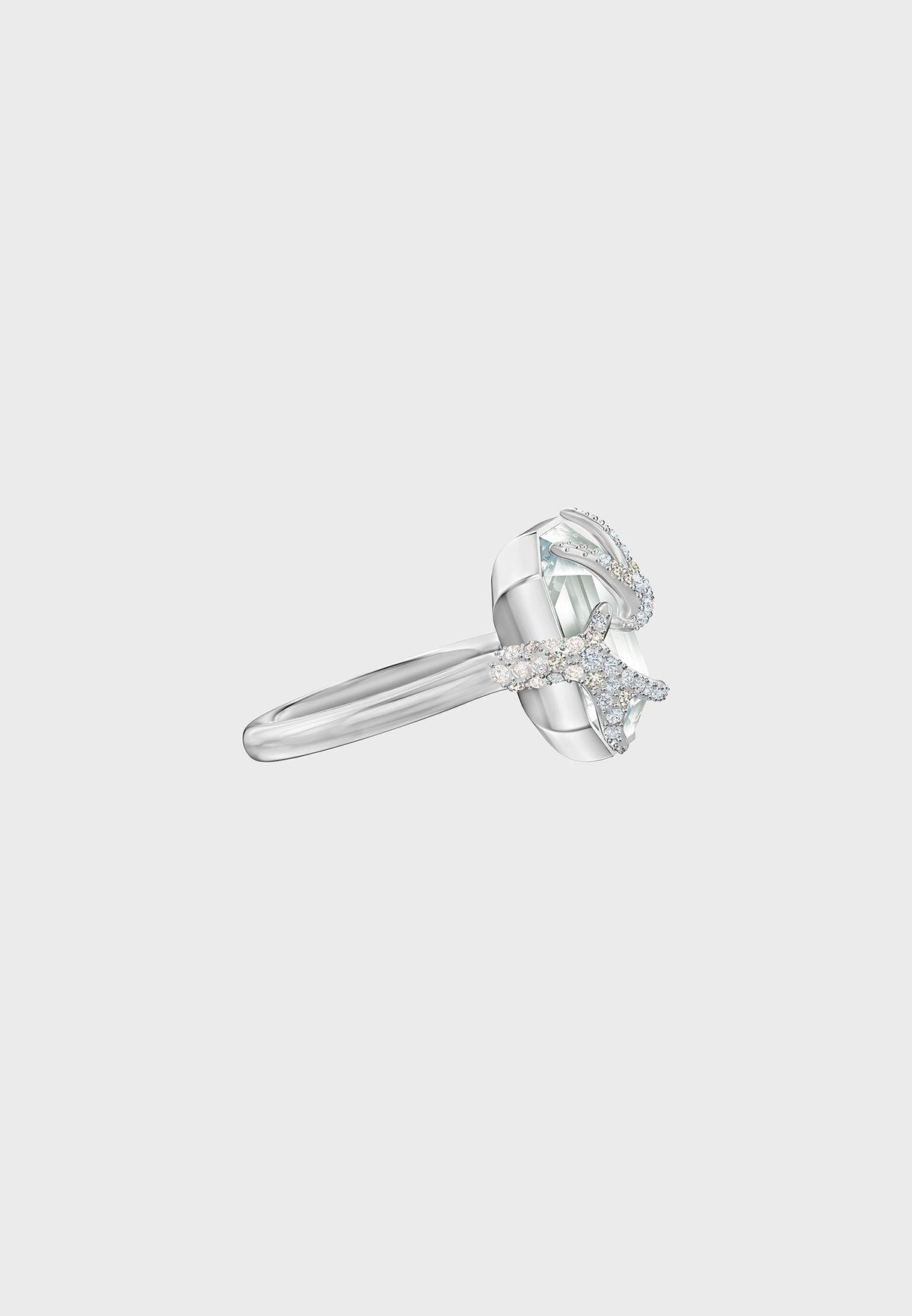 Shop Swarovski Silver Polar Bestiary Antler Ring 5497706 5515092