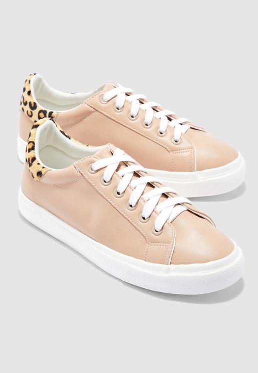 Manny Leopard Print Sneaker - Oatmeal