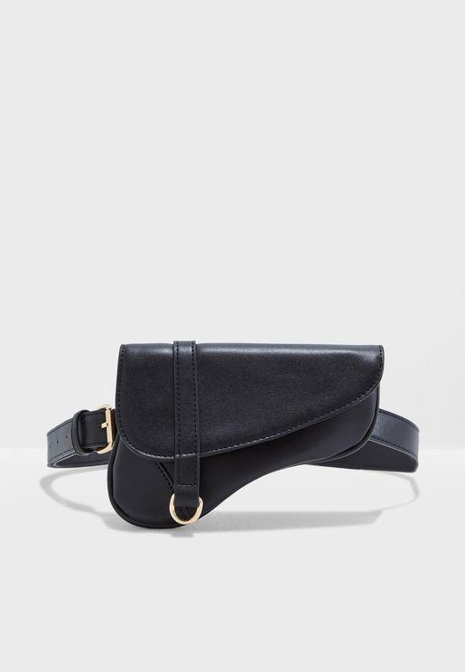 Jeans Belt With Saddle Bag