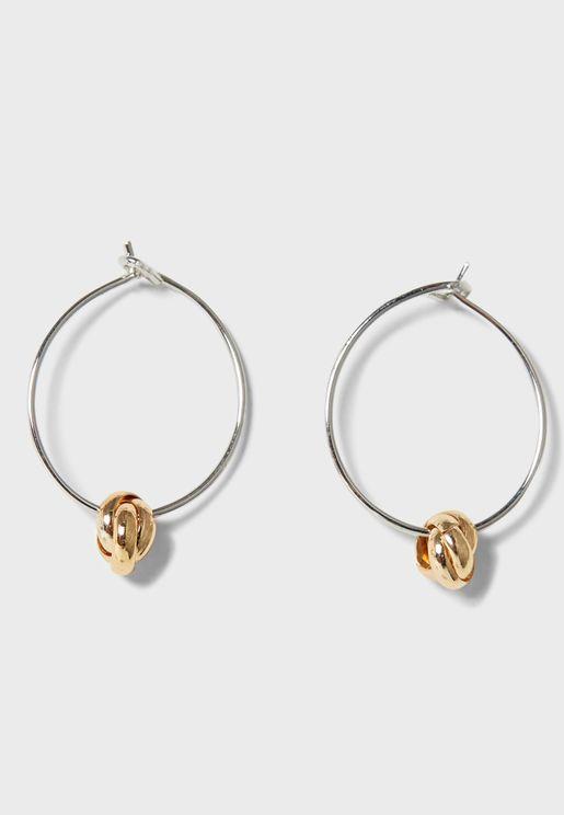 Two Tone Hoop Earings