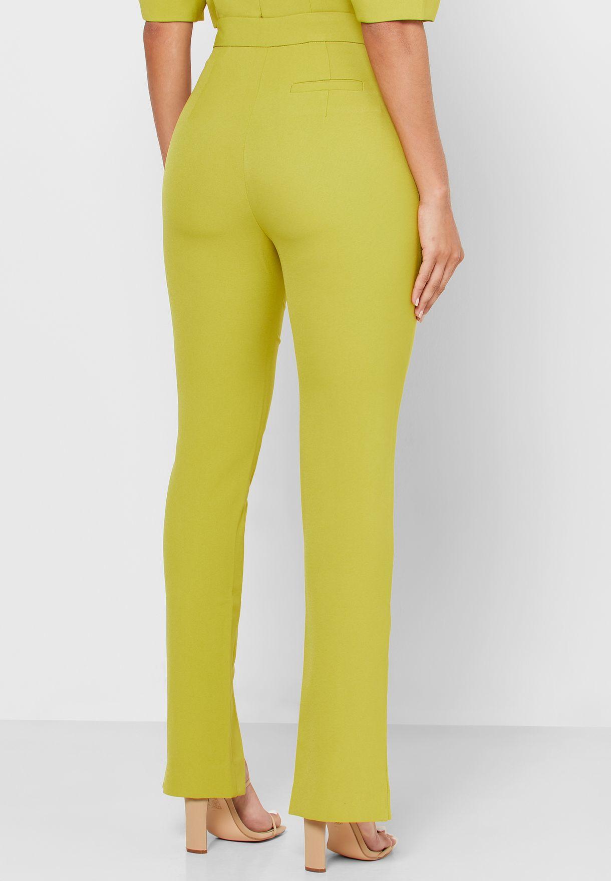 Highland High Waist Front Split Pants
