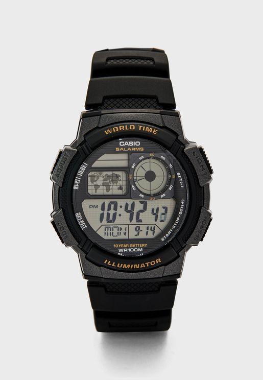 ساعة ديجيتال بخصائص الكرونوغراف