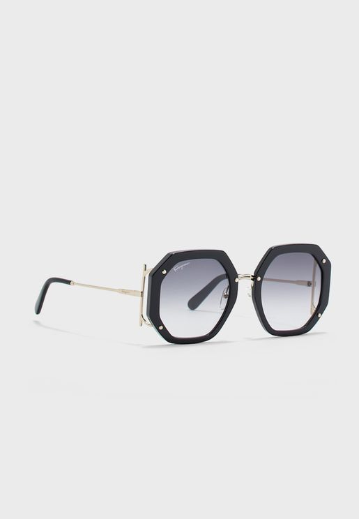 SF940S Oversized Hexa Sunglasses