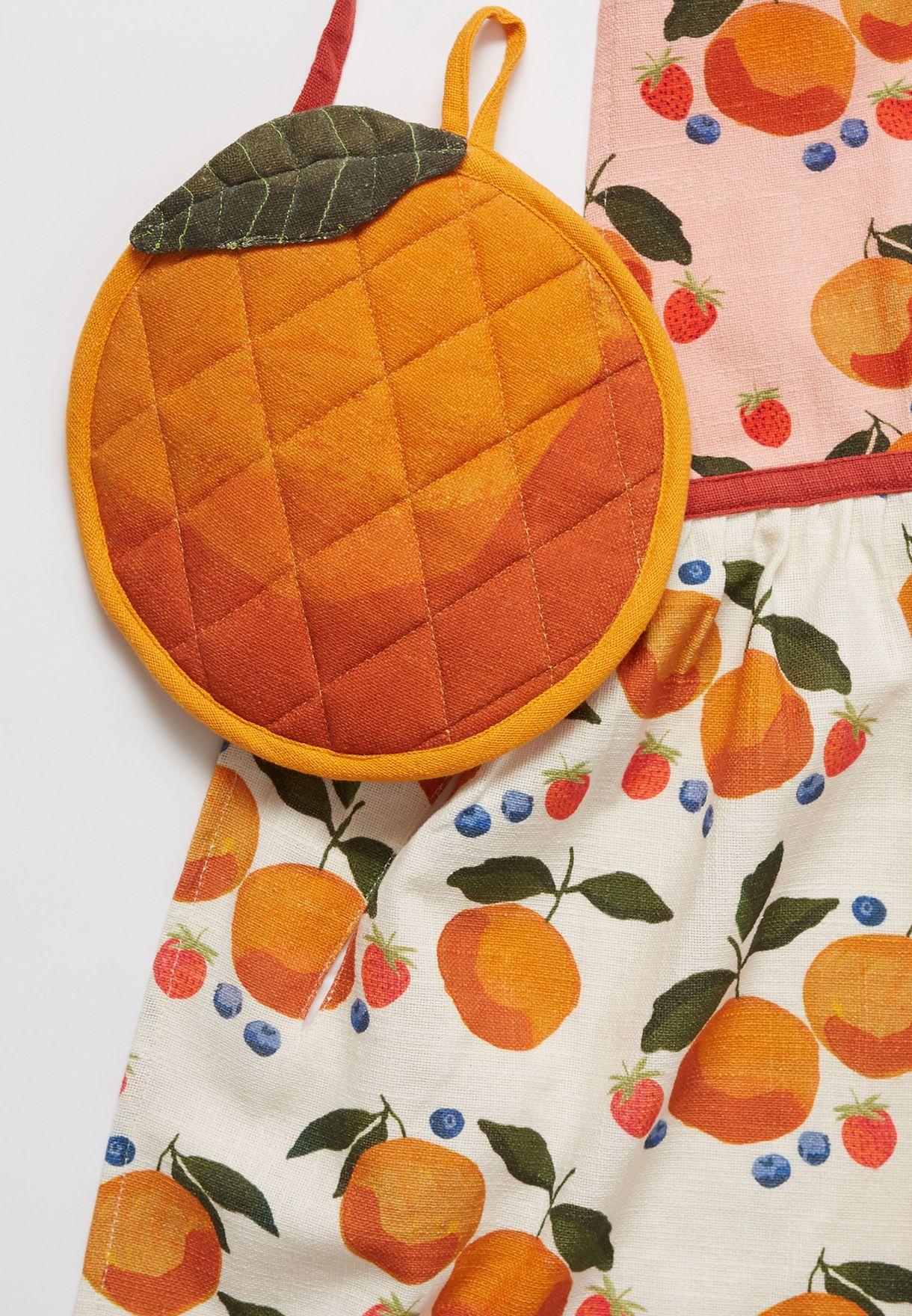 Casa Fruta Apron & Pot Holder Set