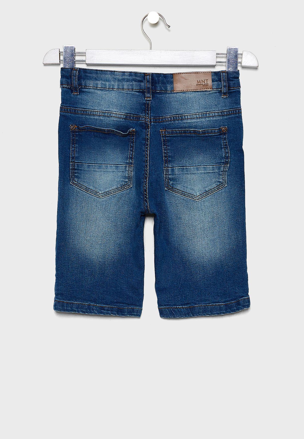 Teen Roll Hem Denim Shorts