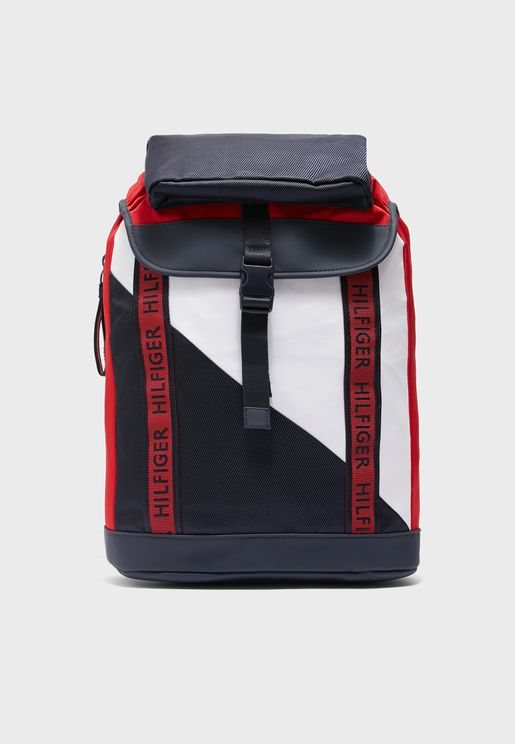 Color Block Flap Over Backpack