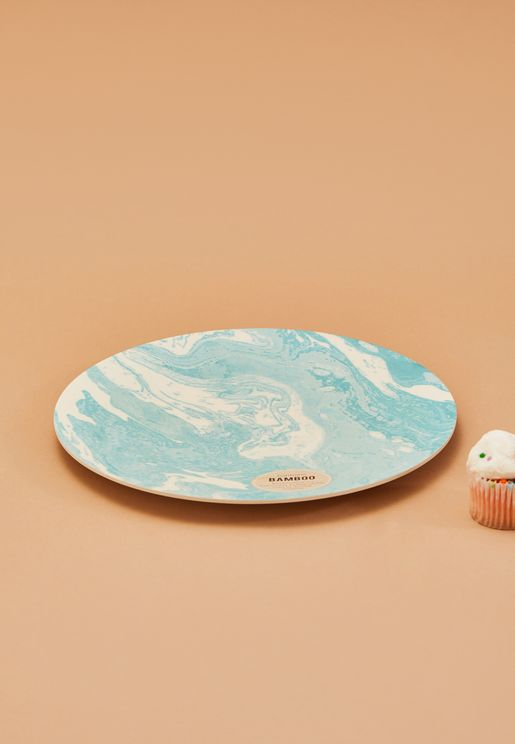 Marble Bamboo Plate