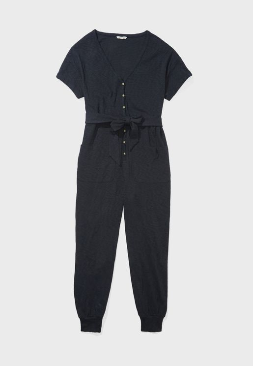 Belted Cuffed Jumpsuit