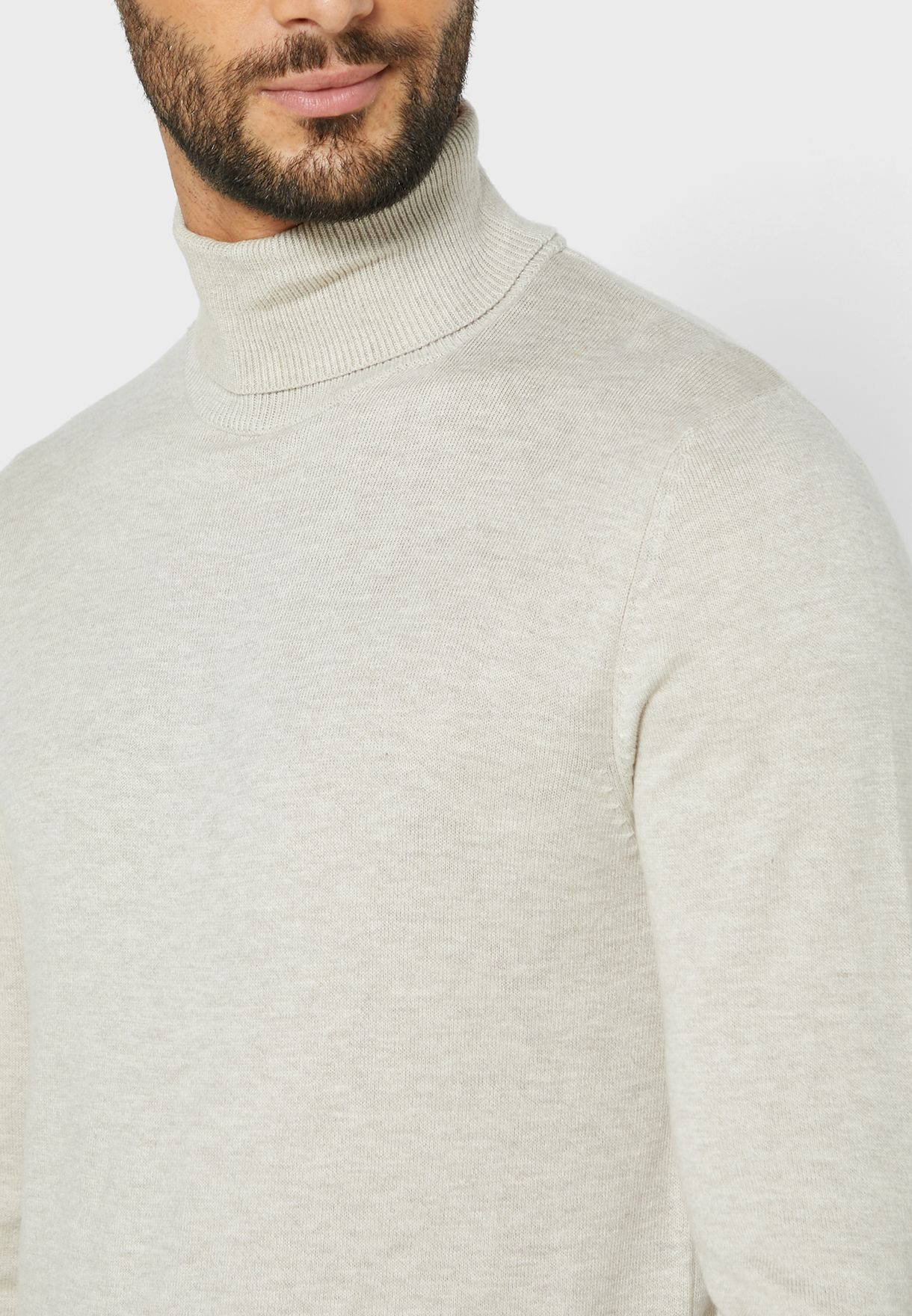 Emil Knitted High Neck Sweater