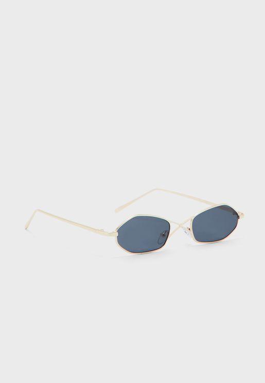 Cross Over Frame Oval Len Sunglasses