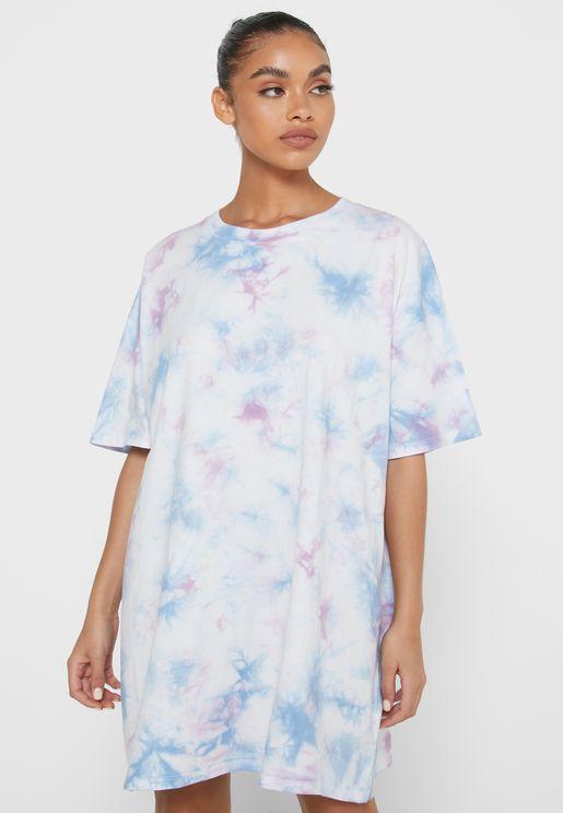 90s Printed Nightdress