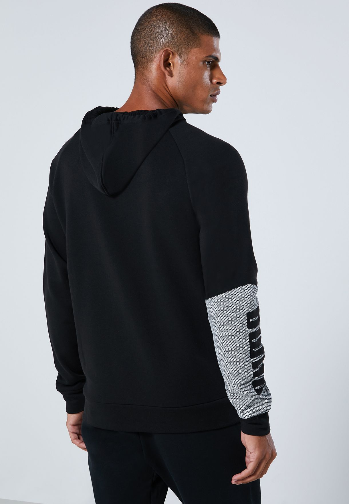 Graphic Knit Hoodie