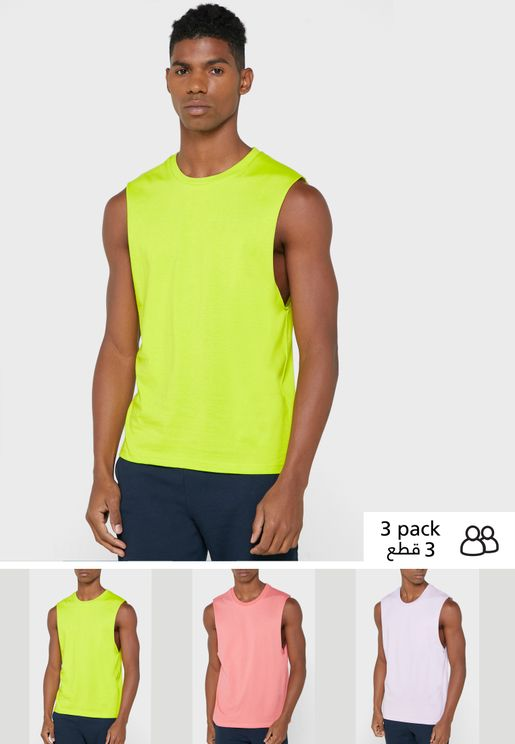 3 Pack Sleeveless Vests