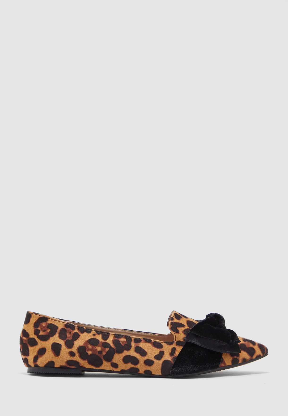 Wide Fit Percy Moccasins - Leopard