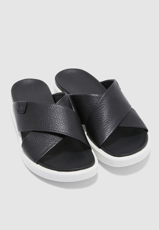 Flowt Cross Strap Sandal - Black