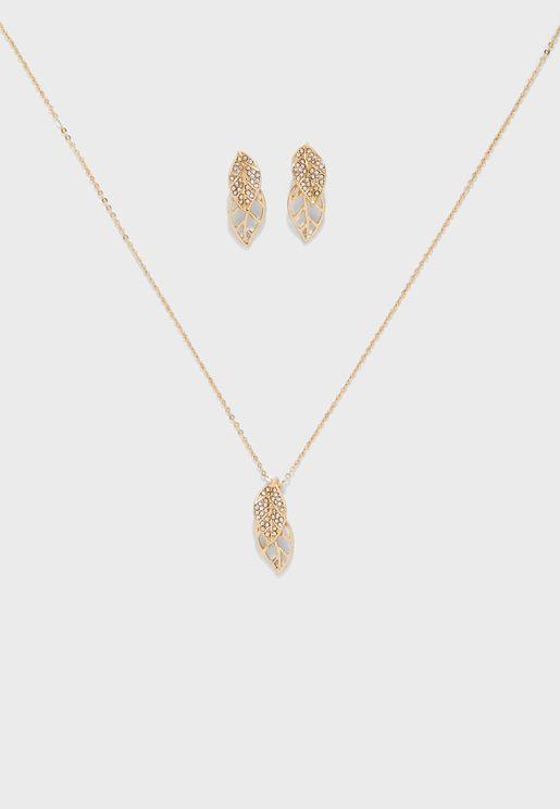 Goorama Necklace+Earrings Set