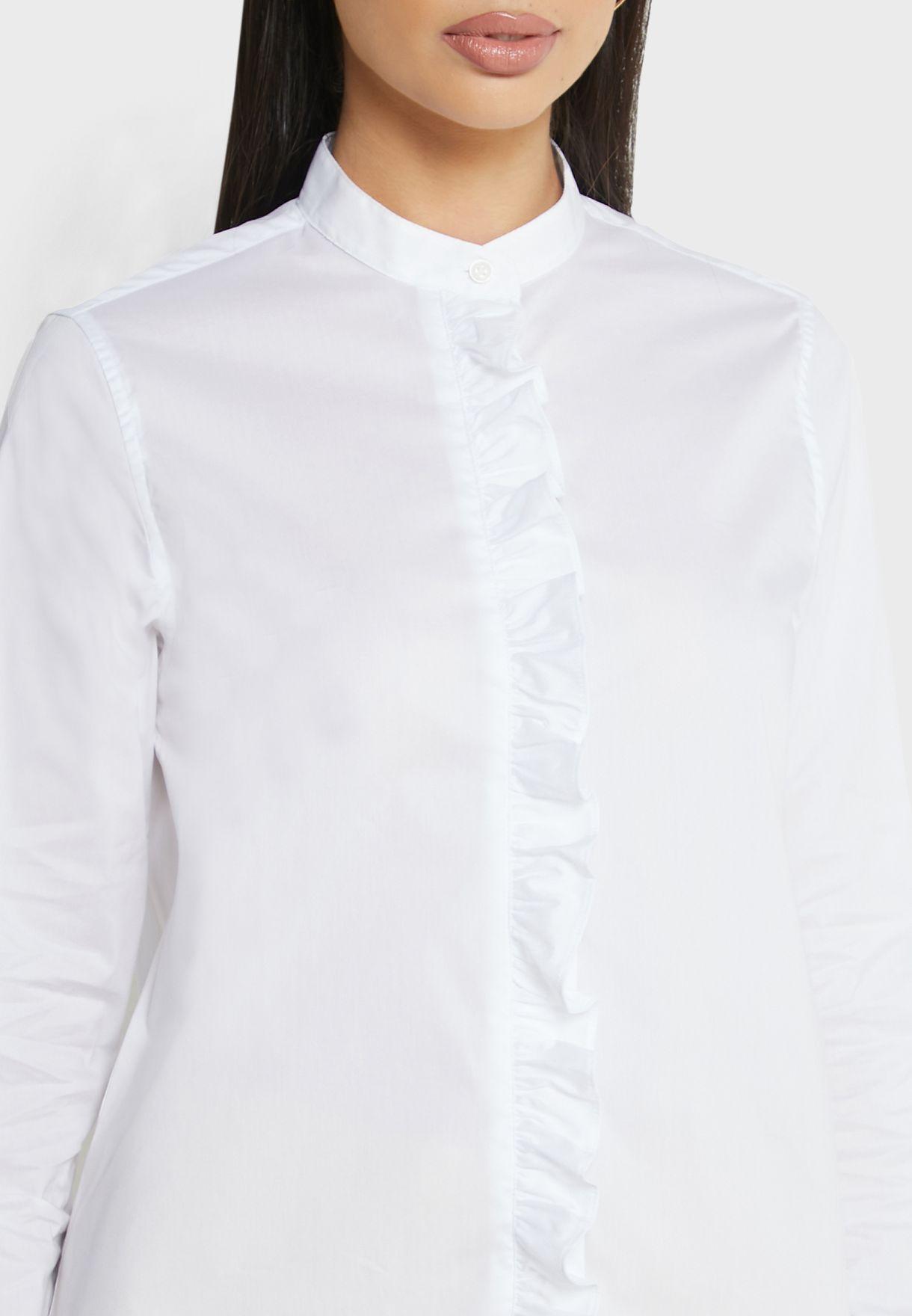 Ruffle Trim Shirt