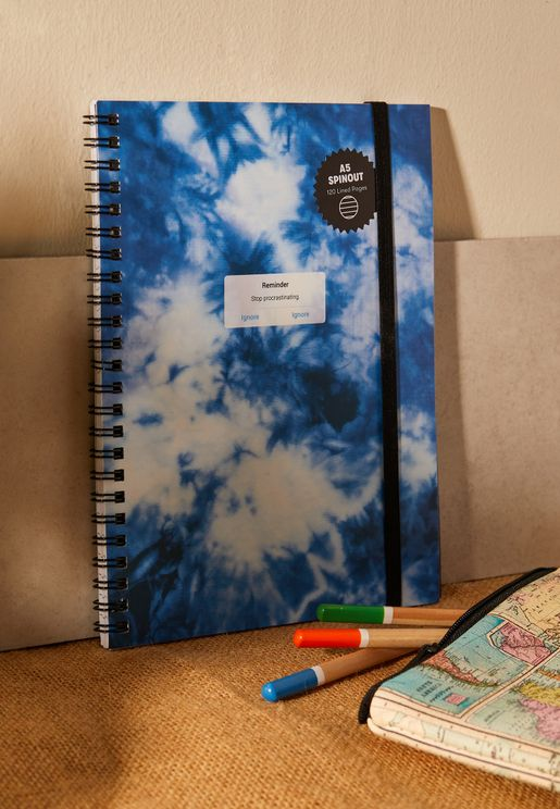 A5 Tie Dye Spinout Notebook