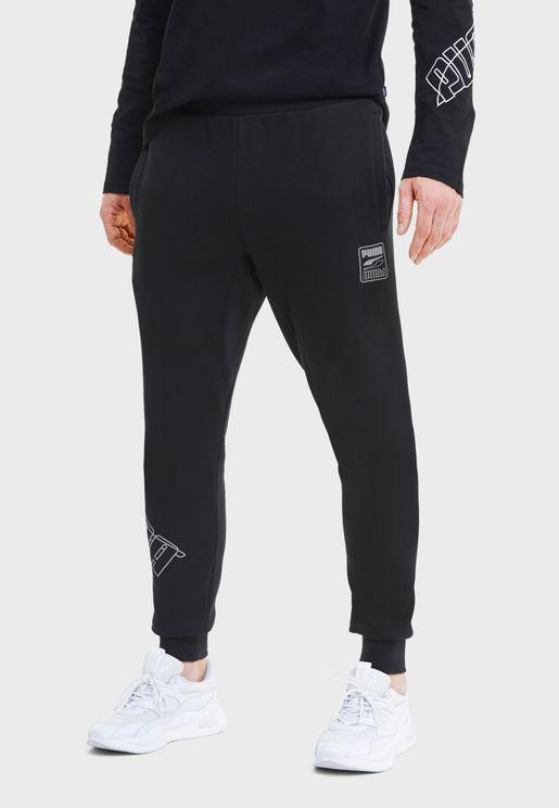 Rebel Bold Fleece Sweatpants