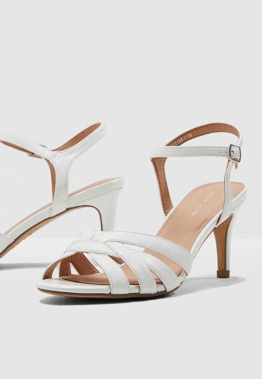3e4d7e51bf34 Shopper Ankle Strap Sandal - White