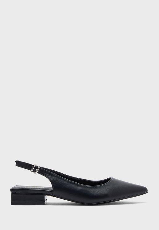Pointed Slingback Flat Shoe