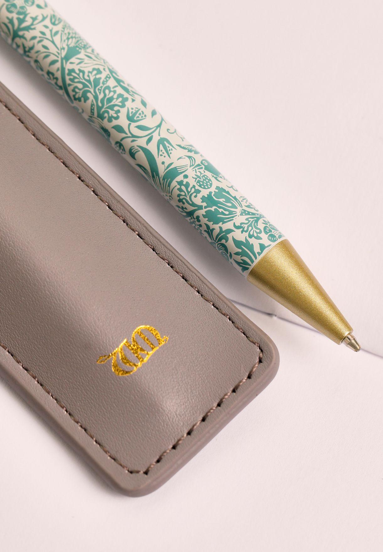 قلم حبر مع حافظة