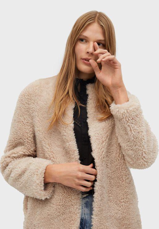 Front Open Fleece Coat