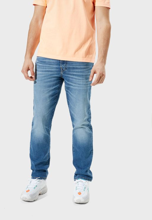 Straight Mid Wash Jeans