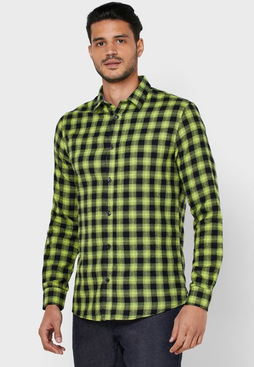 Emil Flannel Checked Regular Fit Shirt