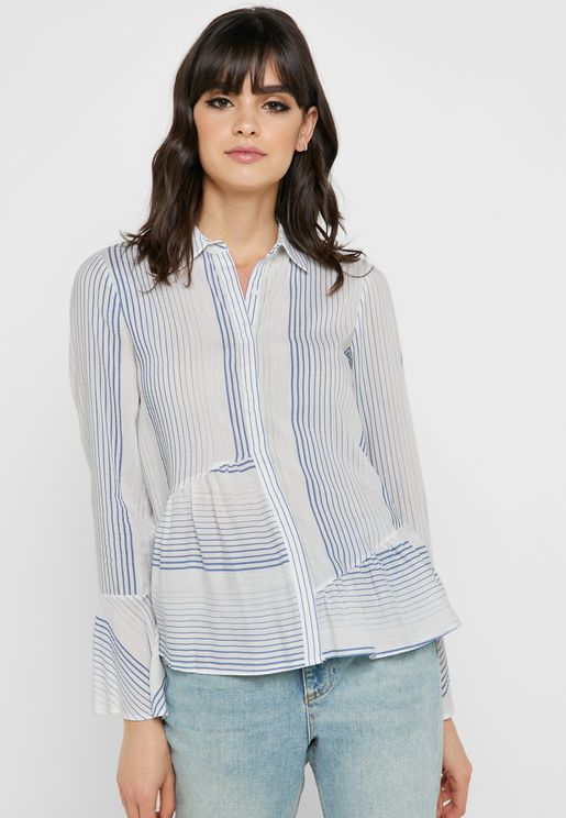 Striped Flared Shirt