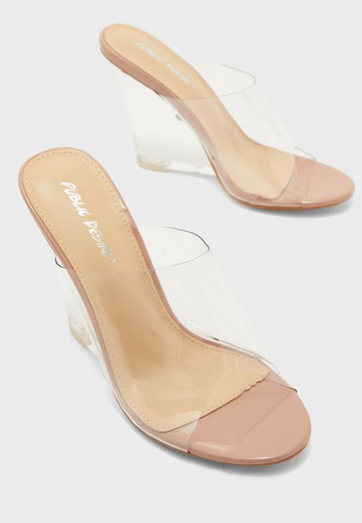 Wide Strpa Wedge Sandal