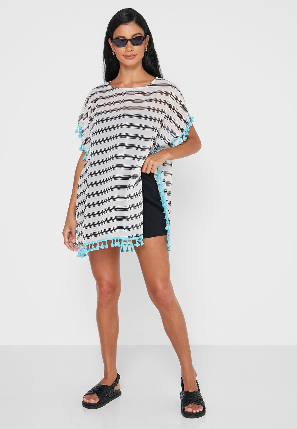 Striped Cover Up