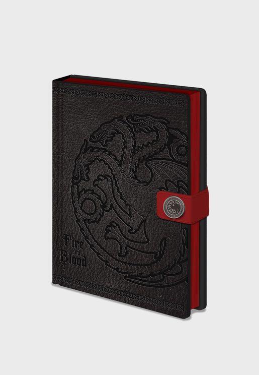 Games Of Thrones Targaryen Notebook