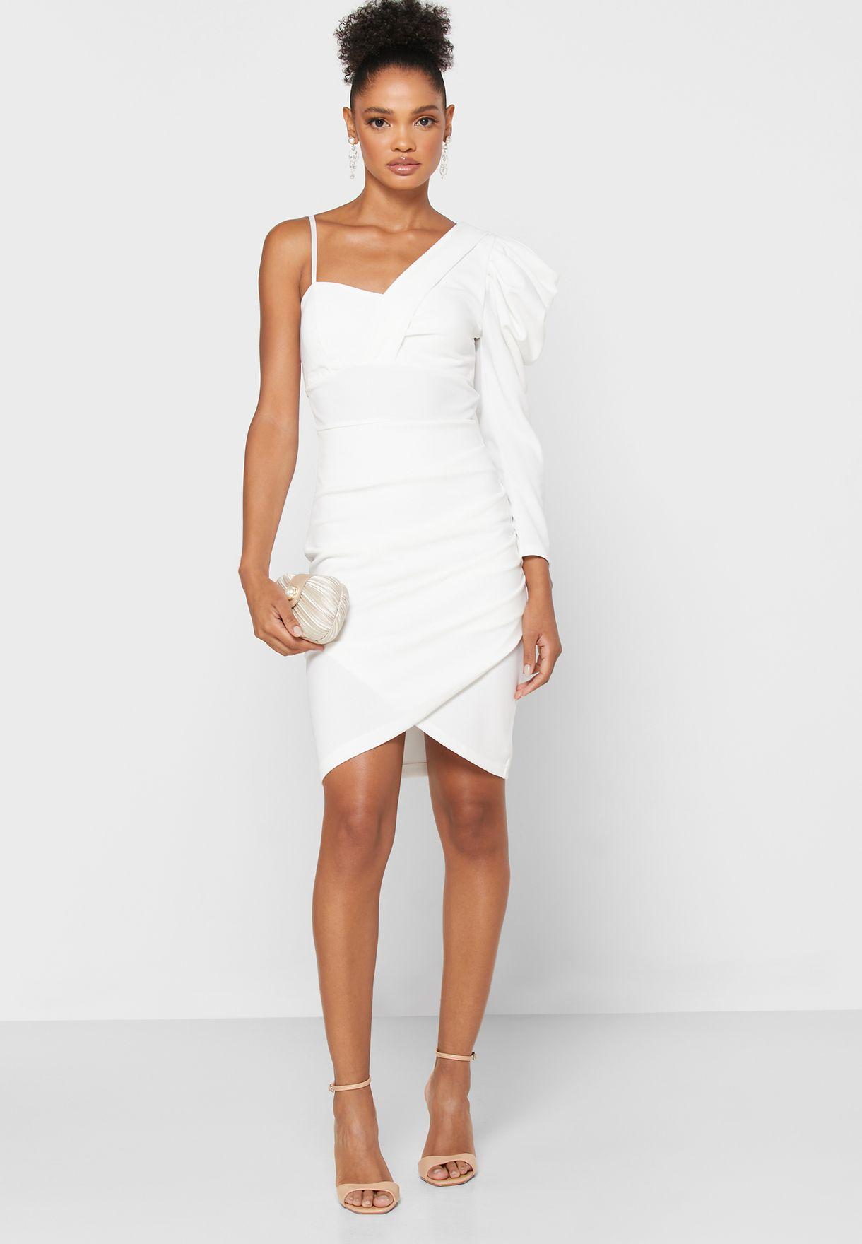 فستان ميني بكتف واحد