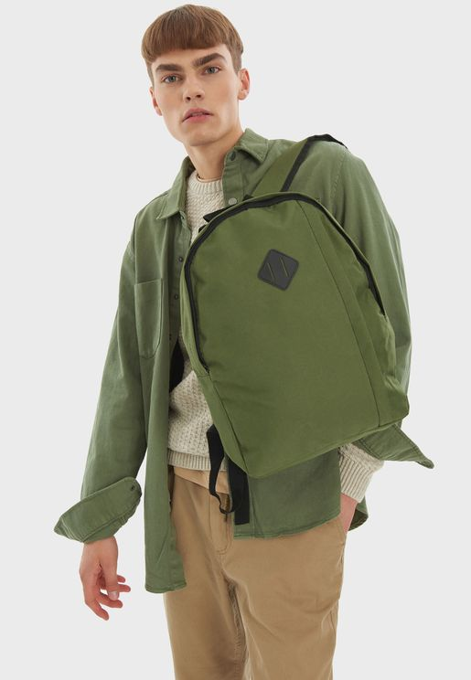 Contrast Zip Detail Backpack