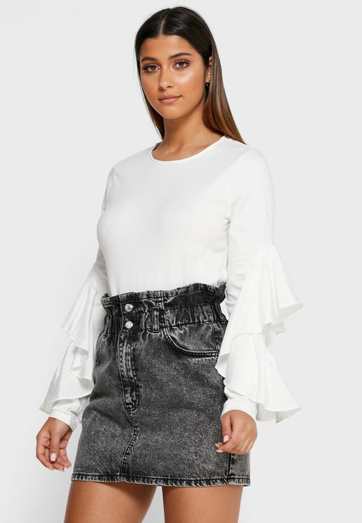 Woven Sleeve Top
