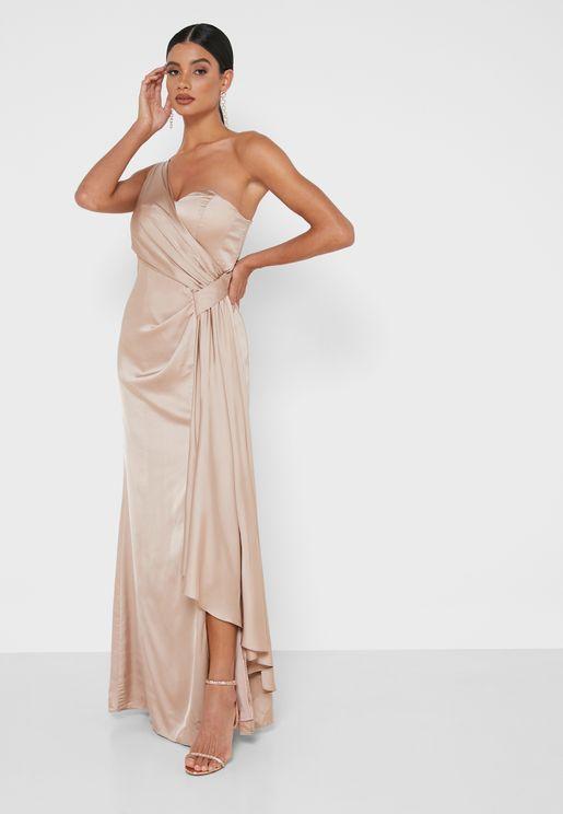 فستان تاشا بكتف واحد