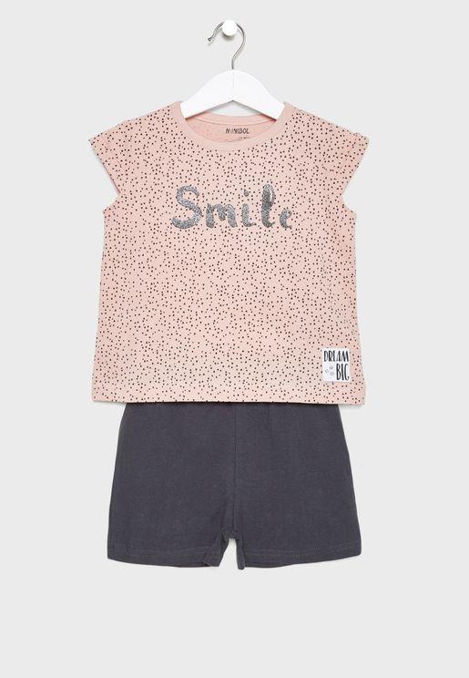 Infant Smile T-Shirt + Shorts Set
