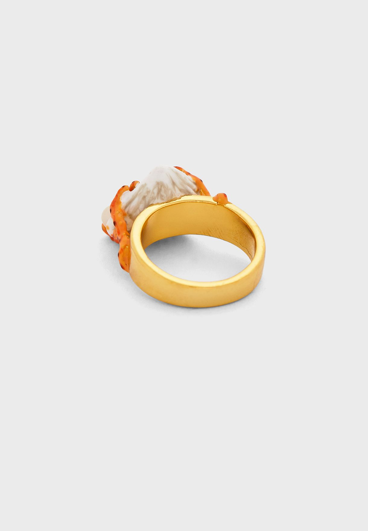 Coral And Stream On Chain Ring