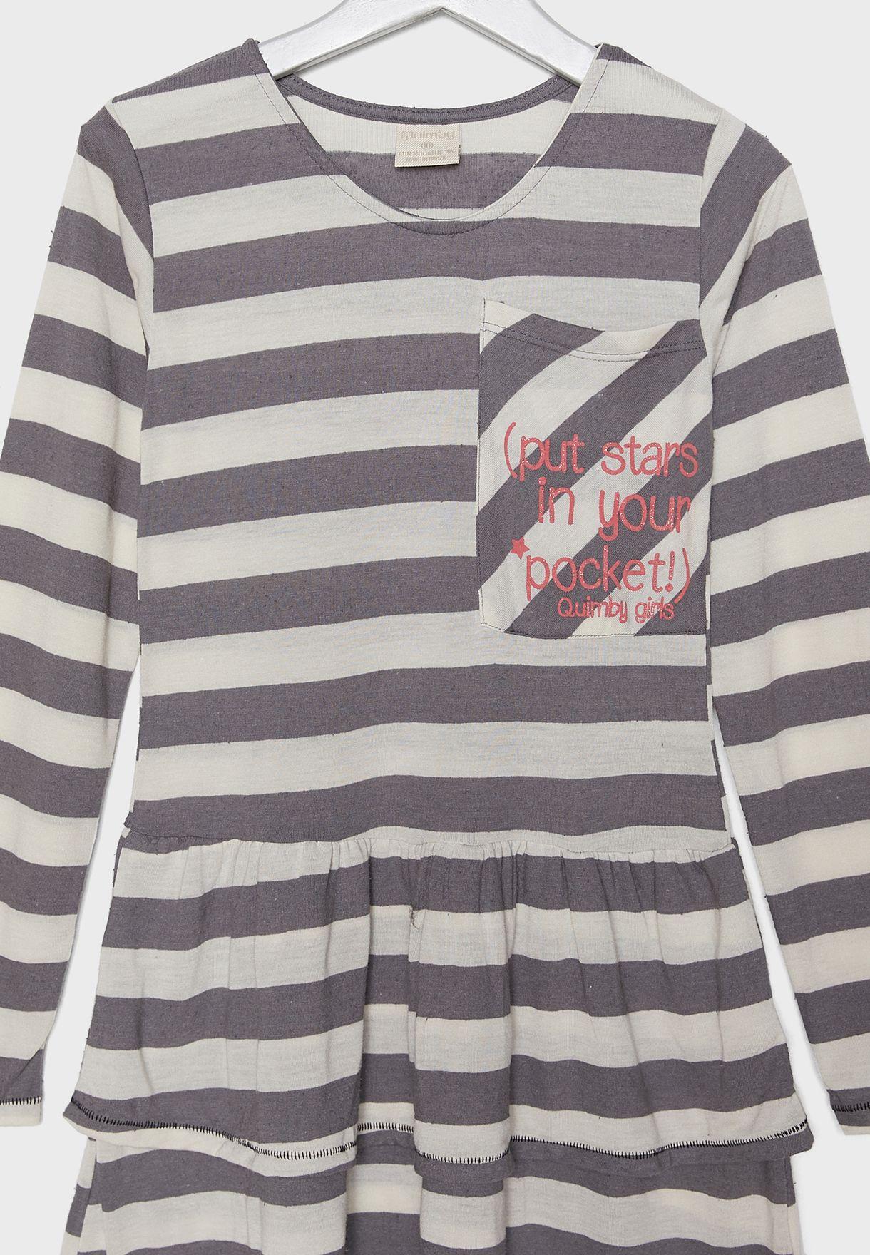 Kids Striped Jersey Dress