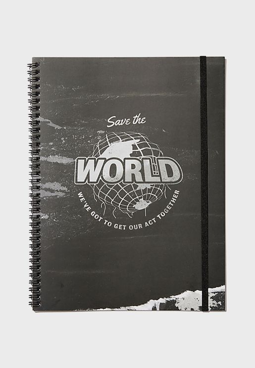 A4 Save The World Spinout Notebook