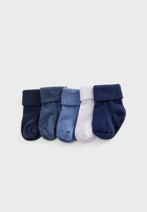 Infant 5 Pack Assorted Socks