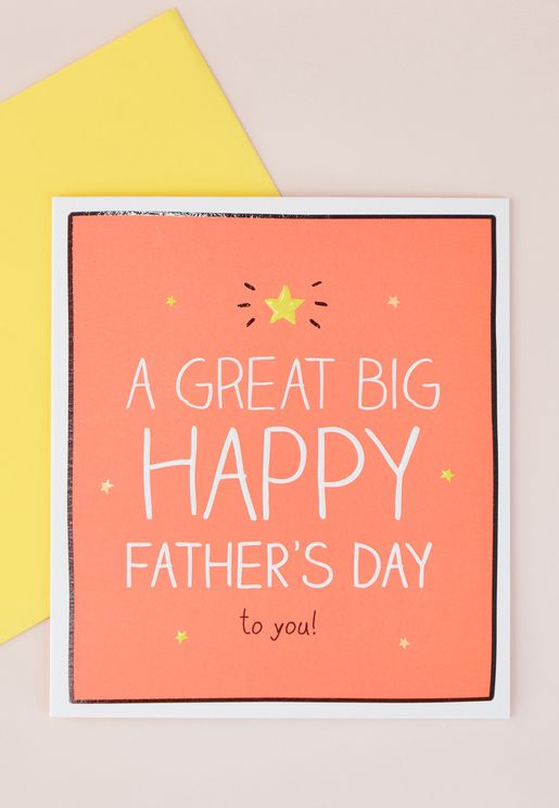 Great Big Happy Father's Day Card
