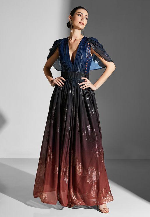 Ombre Slit Dress