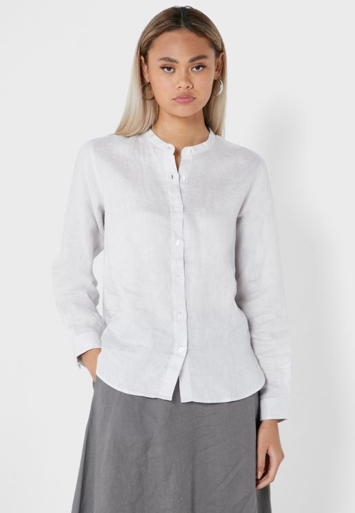 Button Down Longline Shirt