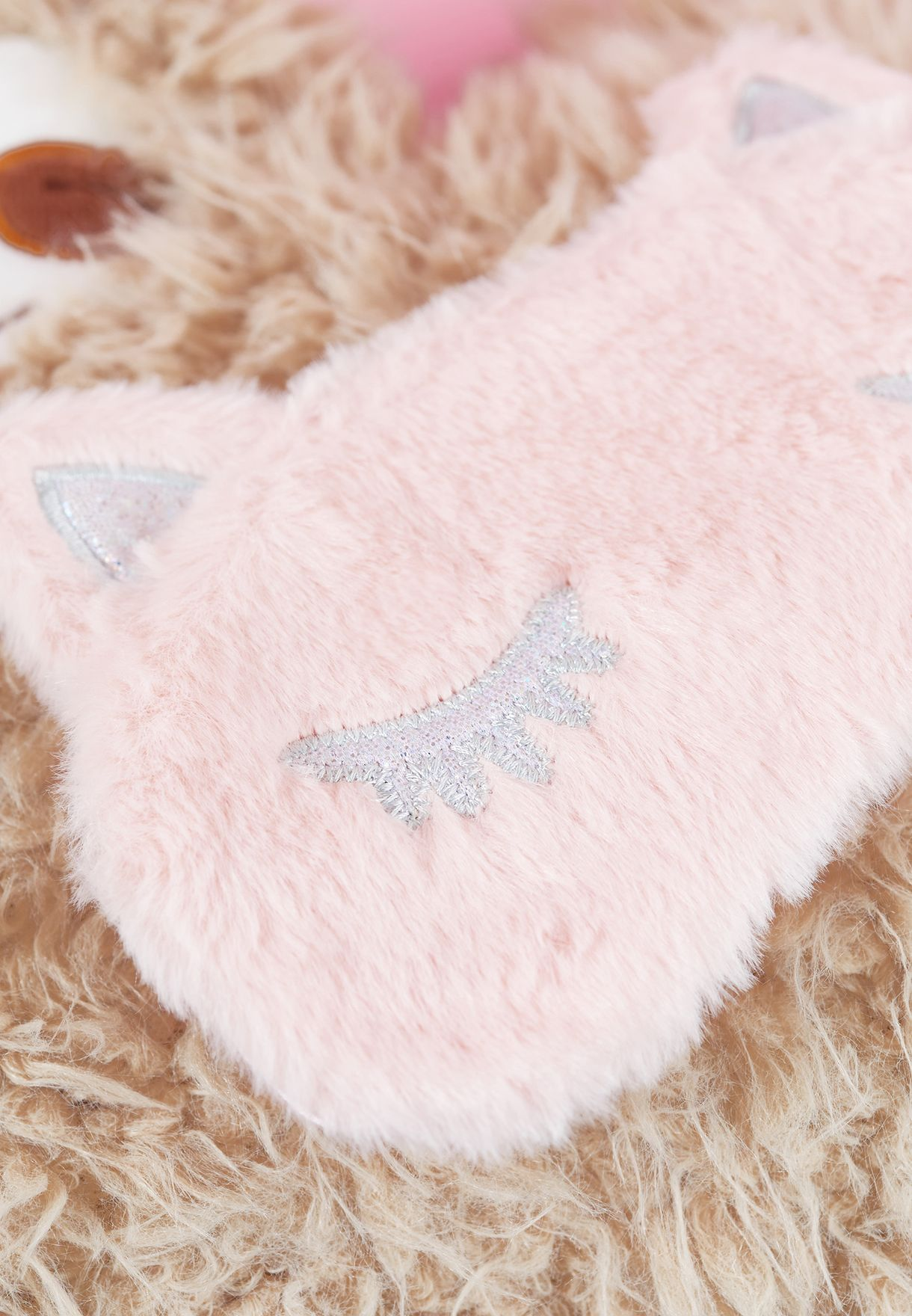 Faux Fur Cat Eye Mask