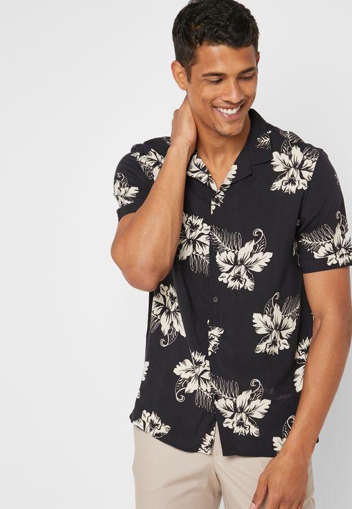Orchid Print Shirt