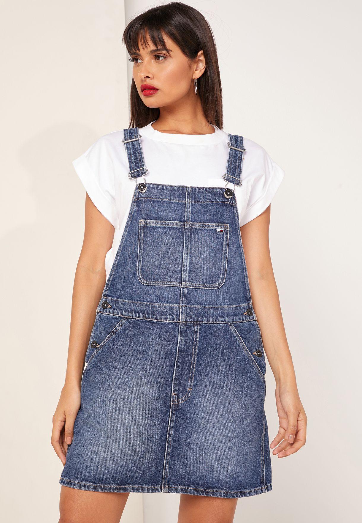فستان جينز بلا اكمام