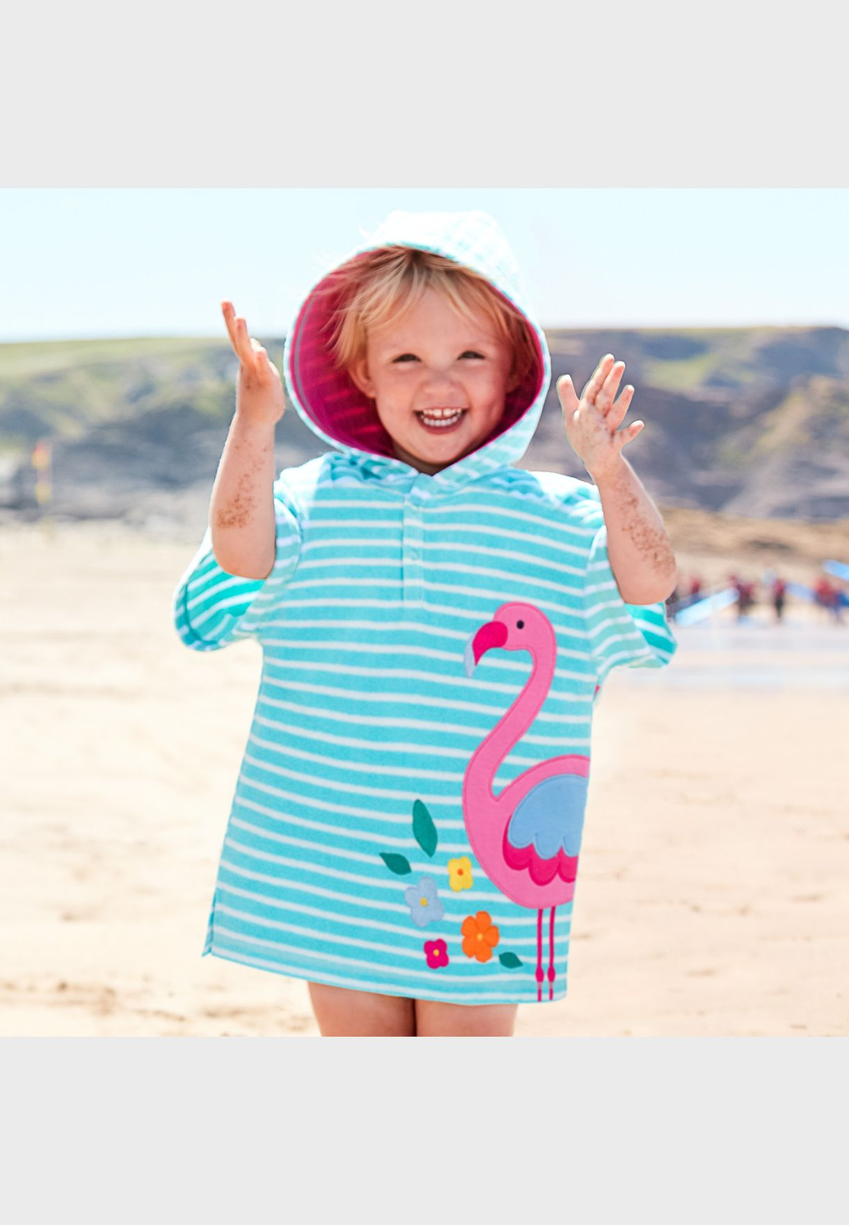 Kids Towelling Hooded Poncho