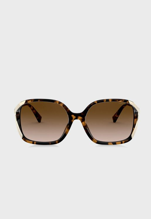0HC8280U  Oversized Sunglasses